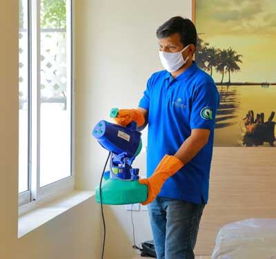 Emergency disinfection service